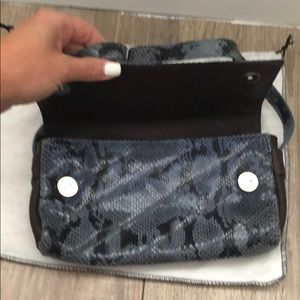 Fendi Bags - Fendissime blue snakeskin embossed leather bag
